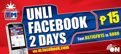 AstigFB15 Unli Facebook 2 days