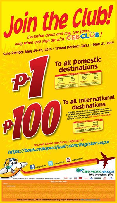 Cebu-Pacific-Piso-Sale-Jan-Mar-2014-Travel