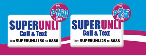 Globe Prepaid SUPERUNLI 25 and SUPERUNLI 150 Promo
