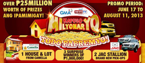 Kapuso-Milyonaryo-2013-Todo-Papremyo-Promo-Mechanics