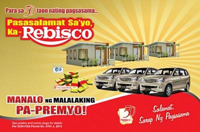 Pasasalamat Sayo Ka-Rebisco Raffle Promo 2013