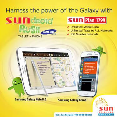 Sun postpaid sundroid rush plan 1799 unlipromo for Sun mobile plan