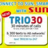 SUN Cellular TRIO 20, TRIO 30, TRIO 100 Promos