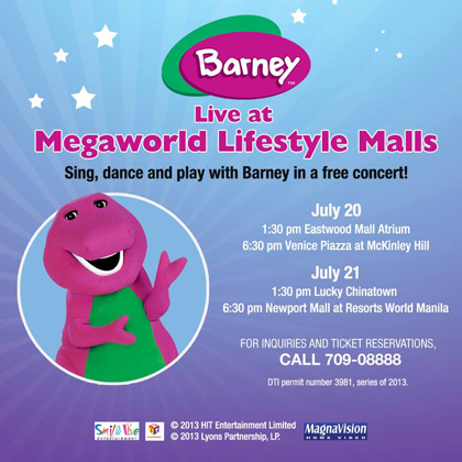 Barney Live at Megaworld Lifestyle Malls