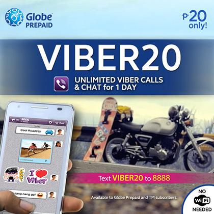 Globe Prepaid VIBER 20 VIBER 10 and VIBER 30 Promo