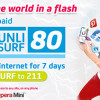 Smart Prepaid BIG UNLI SURF 80 Unlimited Internet Access for 7 Days