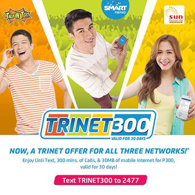 Smart Prepaid TRI-NET 300 Promo