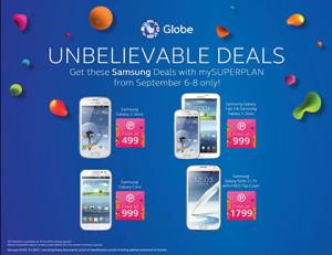 Globe mySUPERPLAN Unbelievable Deals - FREE Samsung Gadgets