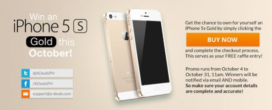 win a free iphone 5s now
