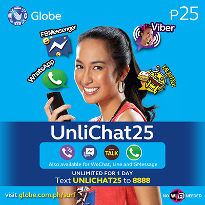 Globe Prepaid UNLICHAT25 and UNLICHAT 299 - Chat to Sawa