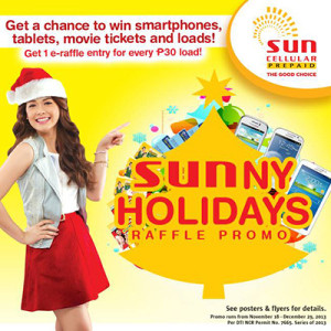 Sun Prepaid SUNNY HOLIDAYS RAFFLE PROMO 2013 - Mechanics