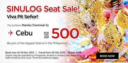 Air Asia Sinulog Seat Sale