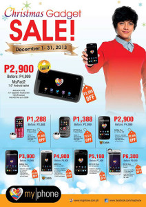 MyPhone Christmas Gadget Sale Dec 1-31 2013