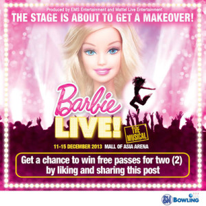 Win VIP Tickets at Barbie Live The Musical Promo