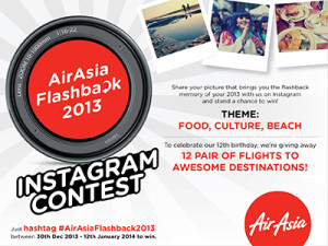 AirAsia Flashback 2013 Instagram Contest