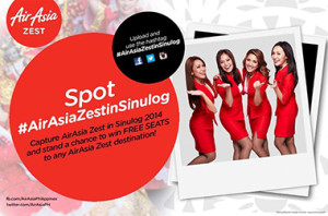 Win FREE SEATS in Spot AirAsiaZestinSinulog Contest 2014