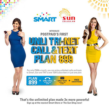Smart Postpaid introduce Tri-Net Plan 899 Promo