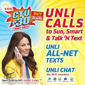 Sun Prepaid Call Text Unli 30
