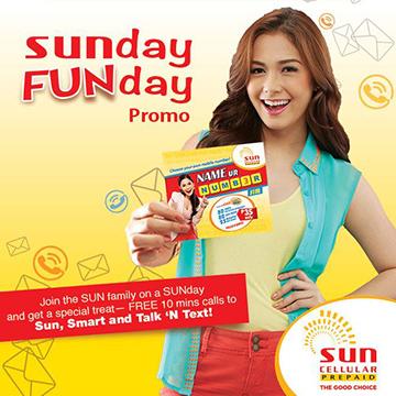 Sun Prepaid SUNday FUNday Promo 2014 - Get FREE TRI-NET Calls TRI-NET