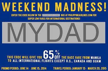 Philippine Airlines Fathers Day Promo Code 1