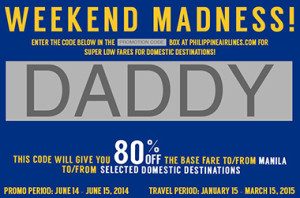 Philippine Airlines Fathers Day Promo Code 2