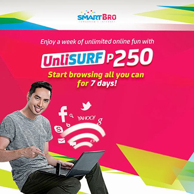 SMART BRO Unlisurf 250 Promo Unlimited Internet for 1 week