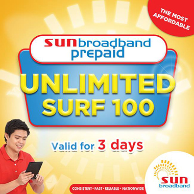 Sun UNLI100 with Unlimited Surfing Promo