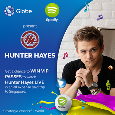 Globe Fly to Singapore and watch Hunter Hayes Promo