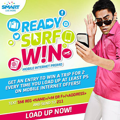 SMART Ready, Surf, WIN! Mobile Internet Promo Mechanics