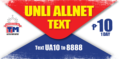 TM UNLIALLNET10 1-Day Unlimited Text Promo www_unlipromo_com