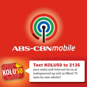 ABS-CBNmobile KOLU50 1-Day Unlimited Internet Surfing Promo