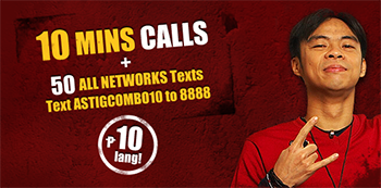 TM AstigCombo10 Call & Text to ALL Networks Combo