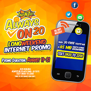 TNT Always On 20 Long Weekend Internet Promo