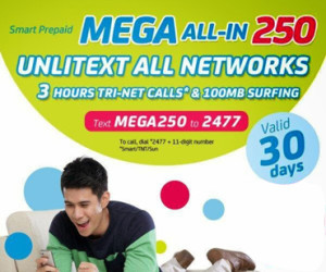 How to Register in Smart Prepaid MEGA 250 Promo