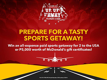 ABS-CBN Sports plus Action UP UP & AWAY FLYAWAY TO THE USA Promo Mechanics