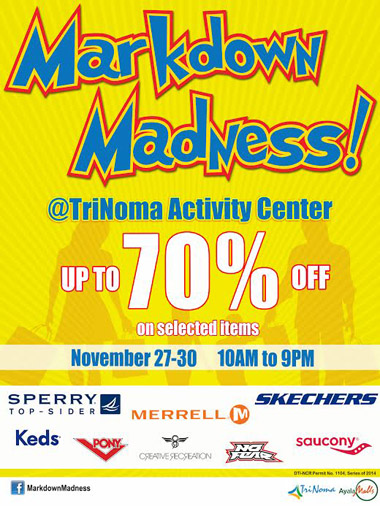 Markdown Madness 2014 at TriNoma www_unlipromo_com