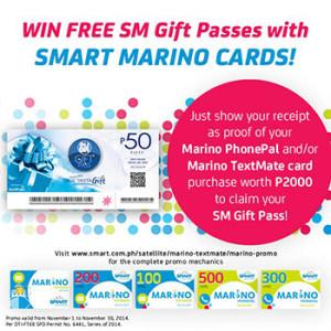 SMART Marino Cards Promo Win FREE Gift Passes www-unlipromo-com