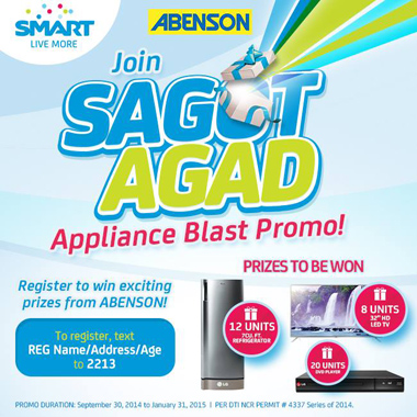 SMART and Abenson Sagot Agad Appliance Blast Promo Mechanics
