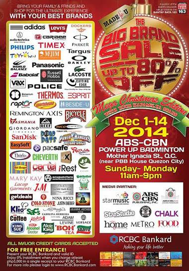 The Big Brand Sale - Mega Christmas Edition 2014 www_unlipromo_com