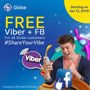 Globe FREE FB and Viber Promo www_unlipromo_com
