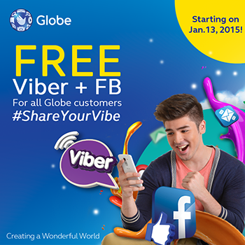 Globe FREE FB and Viber Promo www_unlipromo_com