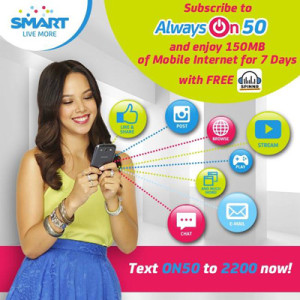 All New SMART Prepaids Always On Promo with FREE Spinnr Music Streaming