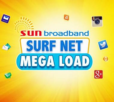 SUN Surf Net Mega - The Sun Broadband Mega Affordable Internet Surfing Promo