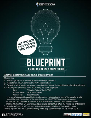 UP POLSCI - BLUEPRINT A Public Policy Competition 2015