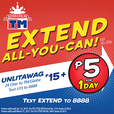 EXTEND All-You-Can Promo from Republika ng TM
