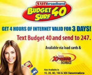 SUN Broadband comes with Budget Surf Loads Promo