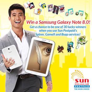 Sun Postpaid Win a Samsung Galaxy Note 8 Promo