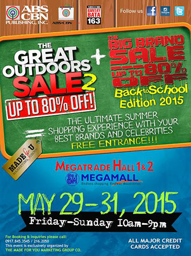 The Big Brand Sale 2015 back to back with The Great Outdoors Sale 2015 www_unlipromo_com