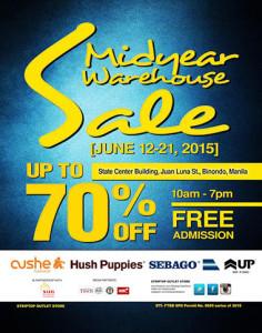 Sebago and Hush Puppies Mid Year Warehouse Sale - UnliPromo_com