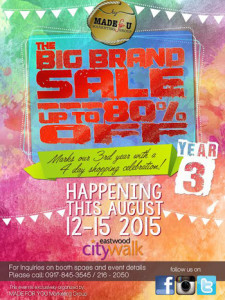 Big Brand Sale 2015 - 3rd Year Annivesary Sale www_unlipromo_com